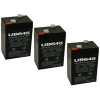 SLA BATTERY 6v 4.5ah Battery for Streamlight Vulcan, 44007, Sho-me- 3 Pack