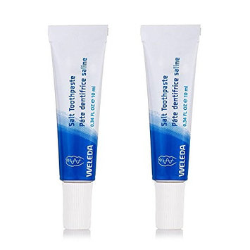 Weleda Travel Size Salt Toothpaste (Pack of 2) with Sea Salt, Myrrh Extract, Blackthorn, Peppermint Oil, Horse Chestnut and Jojoba Oil, All Natural and Organic, 0.34 fl. oz.