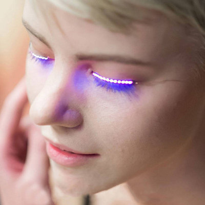 Bluelans 1 Pair Fashion LED Eyelashes False Eyelids Eye Lashes for Pub Club Bar Masquerade Party