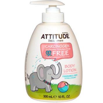 ATTITUDE, Little Ones, Body Lotion, Fragrance-Free, 10 fl oz (300 ml) [Scent : Fragrance-Free]