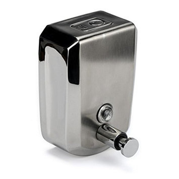 HP95(TM) Stainless Steel Liquid Soap Dispenser Wall Mount Bathing Soap Shampoo Box