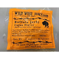 #1 BEST Premium 100% Natural Grass Fed Hand Stripped 2 OZ. Thick Cut Delicious Tasty Bold Flavor Buffalo Jerky from Utah USA – Wood smoked With Hickory Wood by Wild West Jerky: Sports & Outdoors