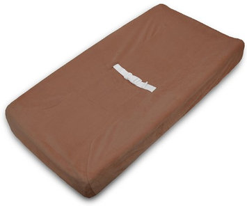 American Baby Company Heavenly Soft Chenille Fitted Contoured Changing Pad Cover - Chocolate - 2 Pack