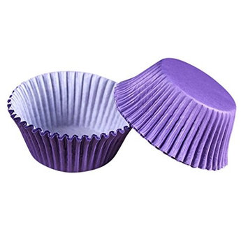 Seamount 100PCS Cake Liners Bread Paper Box Cup Decorator Tool (purple)
