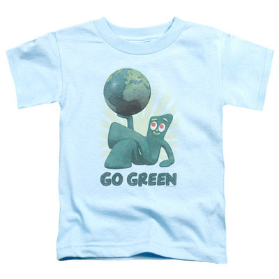 Gumby/Go Green S/S Toddler Tee Light Blue Gmb100 [clothing_size_type: clothing_size_type-regular]