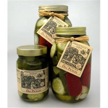 Cherith Valley Gardens DPS16 Hot And Spicy Sliced Dill Pickles 16 oz