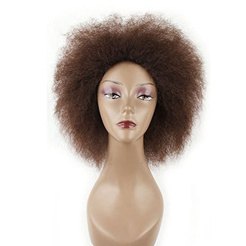 6.5 Inch Hair Synthetic Short Kinky Curly Afro Wig Super Fluffy Wigs for Women 100g/Piece (Color 4/30#)