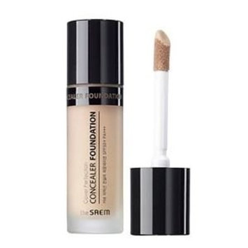 [the SAEM] Cover Perfection Concealer Foundation 1.5 Natural Beige 38g : Beauty