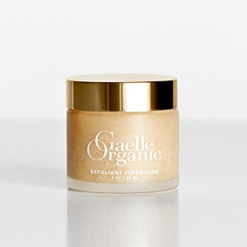 Gaelle Organic Exfoliant Superieure - Ecocert Certified Gentle Face Scrub and All Natural Exfoliator for Brightening with Organic Jojoba Oil, French Sea Salt - Nontoxic, Cruelty Free - 2oz.