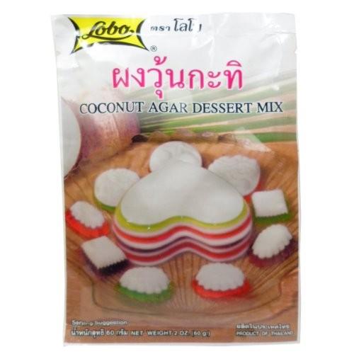 Lobo Coconut Agar Dessert Mix Size 60g(2 Oz) x 5 Bags Thai Dessert by Lobo