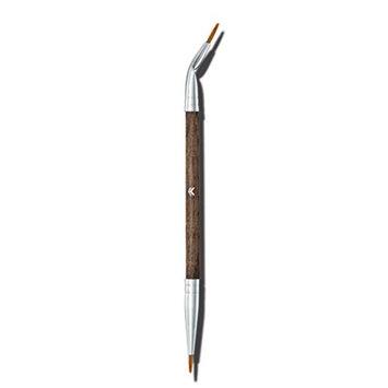 Frcolor Eyeliner Brush Wool Eyeliner Applicator Double Head Bent and Straight Eye Brush