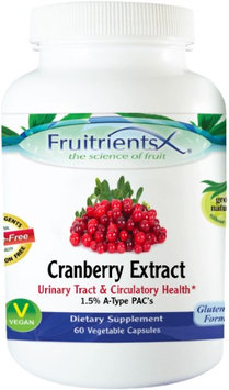 Fruitients Cranberry Extract 60 Vegetable Capsules - Vegan