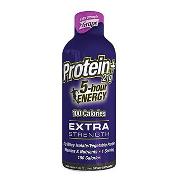 5 Hour Energy Extra Strength With Protein, Grape, 6 Pack