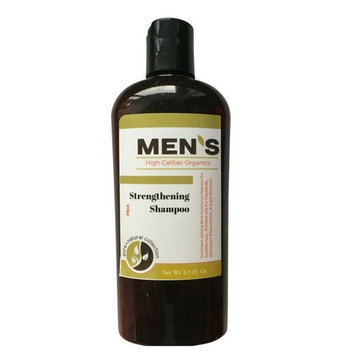 Men's Organic Shampoo - Strengthening, PH Balanced, Sulfate Free, Fortified with Tea Tree Oil, Hydrolyzed Wheat Protein, Pro-Vitamin B5, Vitamin E - Mint 8.5 oz