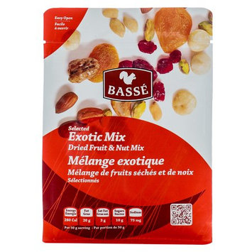 Basse Nuts Basse Selected Exotic Mix, Dried Fruit and Nut Mix (7oz.) Roasted Nuts Cashew Butter Smooth Butter Groove