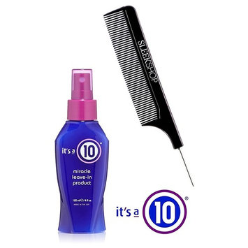 It's a 10 Ten ORIGINAL Miracle Leave-In Product Spray Conditioner (with Sleek Steel Pin Tail Comb)
