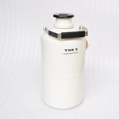 Wotefusi Industrial New 3.15 L Aluminum Alloy Cryogenic Container Liquid Nitrogen Tank Case with Straps Portable Normal Holding Time 30 Days