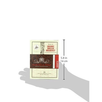 Harney and Sons Organic Tea Bags, English Breakfast, Net Wt. 1.7 Oz, 20 Count [English Breakfast]