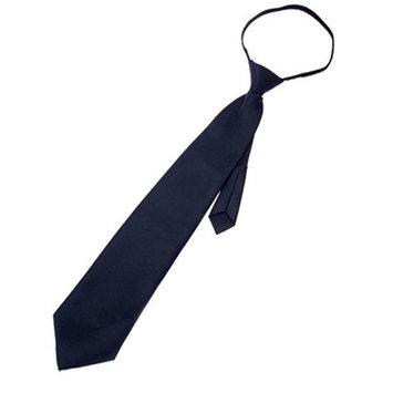 Allegra K Fashionable Polyster Zipper Necktie Neck Tie Dark Blue