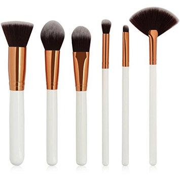 Kim88 Makeup Brushes 6Pc Foundation Eyeshadow Eyebrow Lip Cosmetic Brush Set
