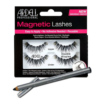 Ardell Professional Double Wispies Magnetic Lashes + Unikcolours Black Eyeliner Pencil - Eye Makeup Set