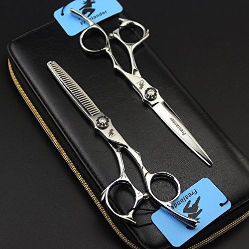 6 inch Professional Hairdressing Scissors Set Razor Edge Barber Scissors Hair Cutting & Thinning Scissors & leather bag
