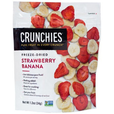 Crunchies Freeze Dried Fruit Freeze Dried Strawberry Banana-1.5 oz Bag