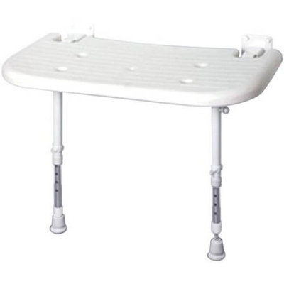 ARC DS4570-GR Deluxe Extra Wide Seat without Pad, Back, and Arms, White
