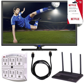 Proscan PLDV321300 32-Inch 720p 60Hz LED TV-DVD Combo Freedom From Cable Bundle