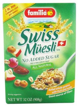 Familia - Swiss Muesli All Natural No Added Sugar - 32 oz(pack of 6)