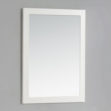 Simpli Home Cape Cod 30 in. L x 22 in. W Wall Mounted Decor Vanity Mirror in Soft White