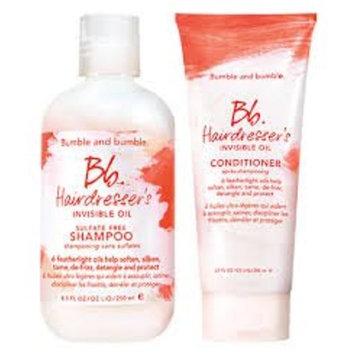 Bumble and Bumble Invisible Oil Shampoo 33oz & Invisible Oil Conditioner 15.2oz Duo