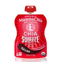 Mamma Chia Squeeze Vitality Snack, Cherry Beet, 3.5 OZ (Pack of 4)