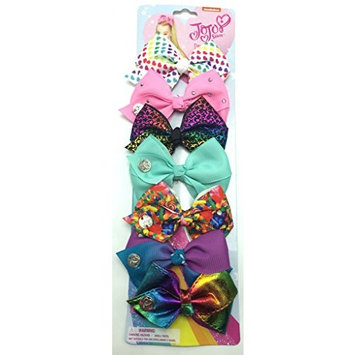 JoJo Siwa Signature Collection Days of the Week Bows Set of 7 Small Hair Bows Clips