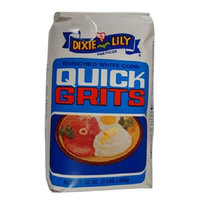 Dixie Lily Enriched White Corn Quick Grits
