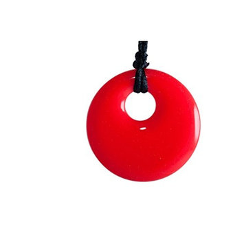 Pendant Teething Necklace Red