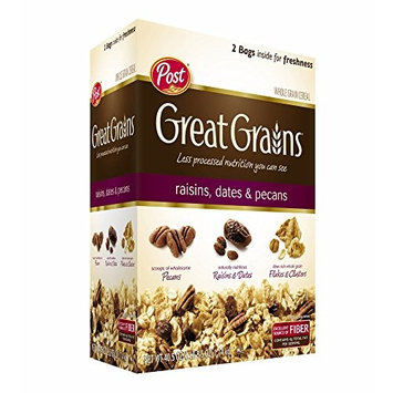 Post Great Grains Raisins, Dates and Pecans, 40.5 oz. (pack of 2)