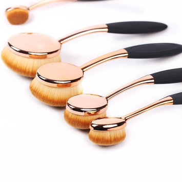 Makeup Brushes Set 5pcs Professional Oval Toothbrush Foundation Contour Powder Blush Concealer Eyeliner Blending Brush Cosmetic Make UP Brushes...