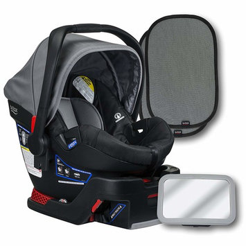 Britax B-Safe 35 Infant Car Seat, Dove, Back Seat Mirror, and 2 EZ-Cling Window Sun Shades