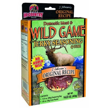 Hi-Country Snack Foods Domestic Meat and WILD GAME 14.23 oz. J Johnsons Original Recipe Home Jerky Spice Kit-No MSG