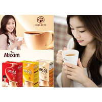 Korean Maxim White Gold/Mocha Gold Mild/Original Instant Coffee Mix Variety Sample Combo Combination 15 Sticks