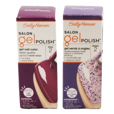 Sally Hansen Salon Gel Polish, Polished Purple and Purple Prisms Nail Polish Kit with Dimple Bracel