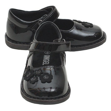 Black Patent Floral Mary Jane Fall Shoes Baby Girls 4-Little Girls 12