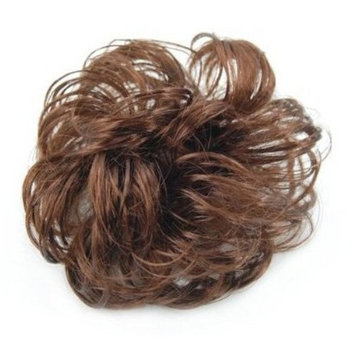by champper Long Curly Brown Hair Wig Ponytail Holder Scrunchie Hairpiece