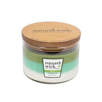 Glass Container Candle Fig Tree/Wild Honeysuckle/White Tuberose 18oz - Nature's Wick