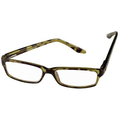 Select-A-Vision Milano Reader, Classic Reading Glasses, Tortoise Green, 2.00
