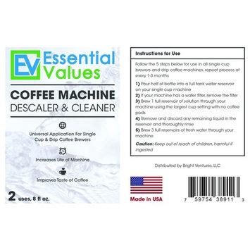 Keurig Descaling Solution, Universal Descaler & Coffee Maker Cleaner For Keurig, Delonghi, Nespresso, Gaggia, Saeco And All Single Use, Coffee Pot & Espresso Machines