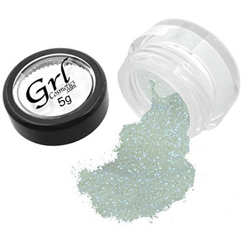 Grl Cosmetics Cosmetic Glitter Makeup for Face, Eyes, Lips, Nails and Body - GL79 Nova White, 5 Gram Jar