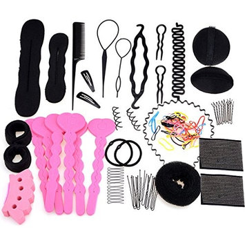 Le Fu Li Hair Design Styling Accessory Maker Pads Hairpins Clip Donut Tool Kit