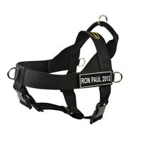 Dean & Tyler DT Universal Fun No Pull Dog Harness with Velcro Patches, Black [Ron Paul 2012]